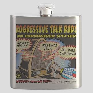 Progressive Talk Radio, an Endangered Specie Flask