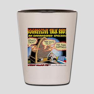 Progressive Talk Radio, an Endangered S Shot Glass