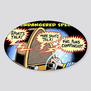 Progressive Talk Radio, an Endanger Sticker (Oval)