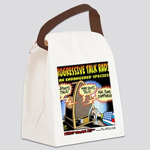 Progressive Talk Radio, an Endang Canvas Lunch Bag