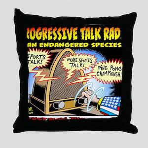 Progressive Talk Radio, an Endangered Throw Pillow