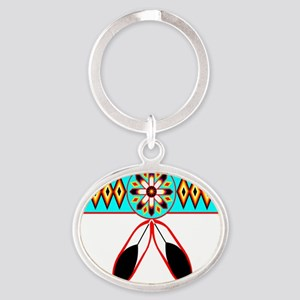 NATIVE PRIDE Oval Keychain