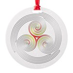 Triple Spiral - 4 Ornament