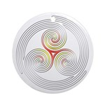 Triple Spiral - 4 Ornament (Round)