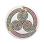 Triple Spiral - 12 Ornament (Round)