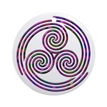 Triple Spiral - 11 Ornament (Round)