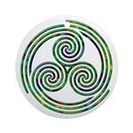 Triple Spiral - 10 Ornament (Round)