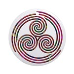 Triple Spiral - 9 Ornament (Round)