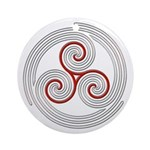 Triple Spiral - 8 Ornament (Round)