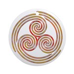 Triple Spiral - 6 Ornament (Round)