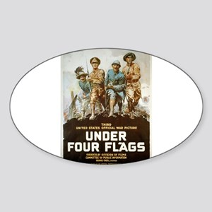 Under Four Flags - anonymous - 1918 - Poster Stick