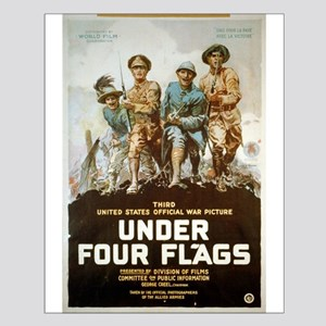Under Four Flags - anonymous - 1918 - Poster Poste