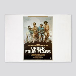 Under Four Flags - anonymous - 1918 - Poster 5'x7'