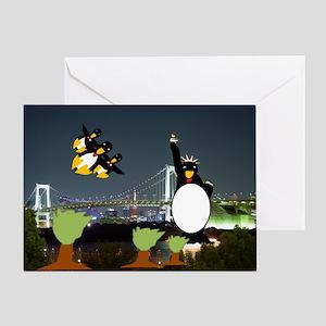 New York Penguins Greeting Card