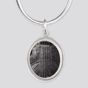 are YOU a bluesfreak? Silver Oval Necklace