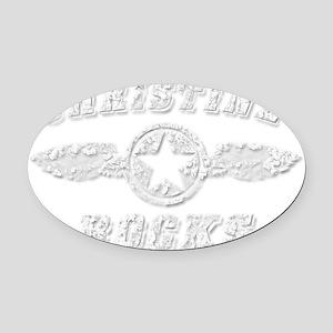CHRISTINE ROCKS Oval Car Magnet