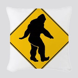 Bigfoot Crossing Woven Throw Pillow