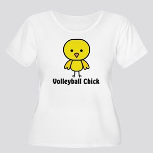 Volleyball Chick Women's Plus Size Scoop Neck Tee