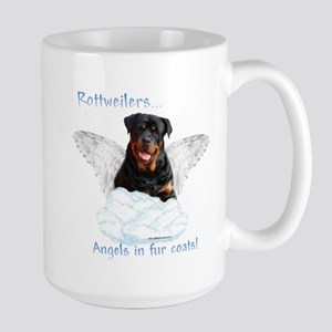 Rottie Angel Large Mug