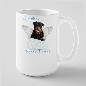 Rottie Angel Large Mug