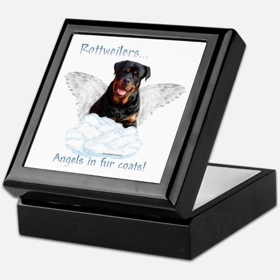 Rottie Angel Keepsake Box