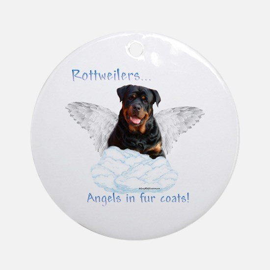 Rottie Angel Ornament (Round)