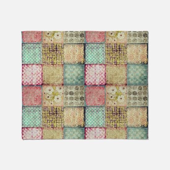 Vintage Quilt Throw Blanket