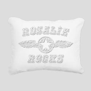 ROSALIE ROCKS Rectangular Canvas Pillow