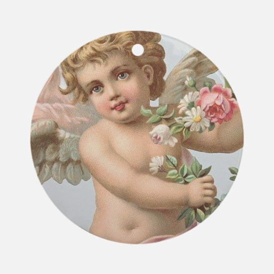 Cherub 1 Round Ornament