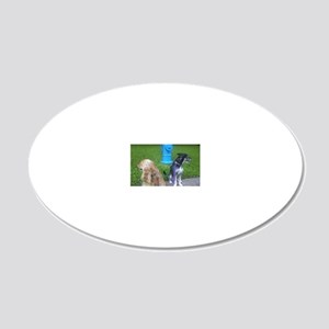 DC's Tees staff ready to han 20x12 Oval Wall Decal