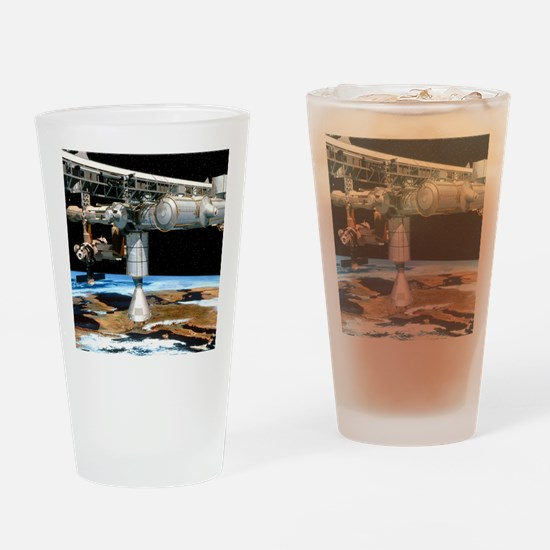 Artwork of the International Space  Drinking Glass