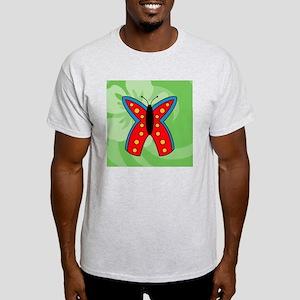 Butterfly Round Car Magnet Light T-Shirt