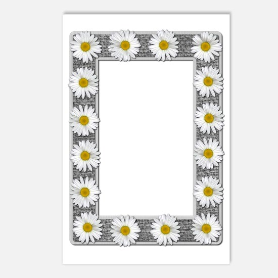 Grayscale Daisies and Bur Postcards (Package of 8)
