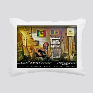 Jah Witness Reggae Rectangular Canvas Pillow