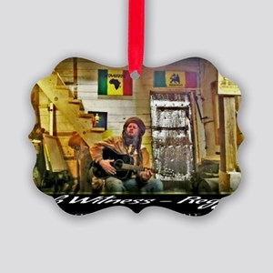 Jah Witness Reggae Picture Ornament