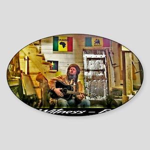 Jah Witness Reggae Sticker (Oval)