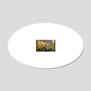 Jah Witness Reggae 20x12 Oval Wall Decal