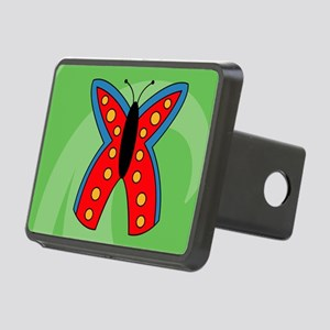 Butterfly Banner Rectangular Hitch Cover