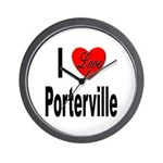 I Love Porterville Wall Clock