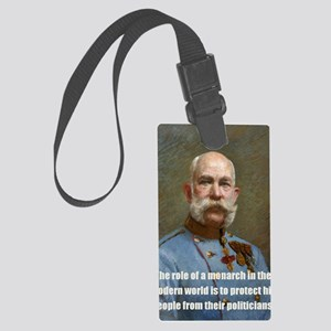 Franz Josef I Large Luggage Tag