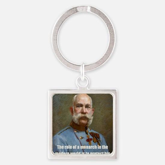 Franz Josef I Square Keychain
