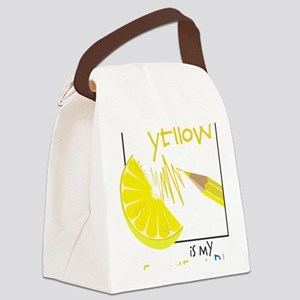 My Favorite Color Canvas Lunch Bag