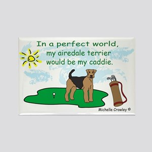airedale Rectangle Magnet