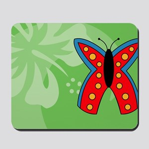 Butterfly Rectangle Car Magnet Mousepad