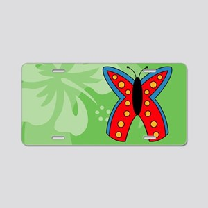 Butterfly Rectangle Car Mag Aluminum License Plate