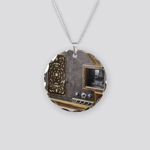 Baird Televisor, early telev Necklace Circle Charm