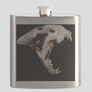 Big cat skull Flask