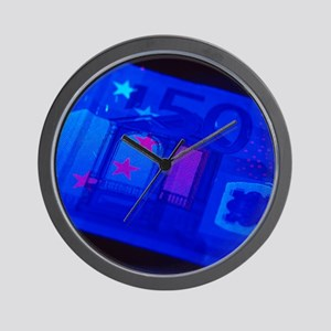 Banknote security Wall Clock