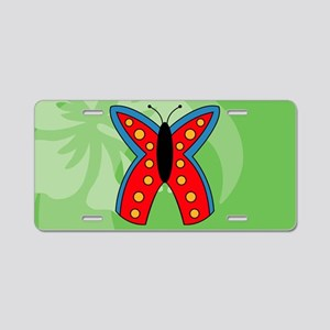 Butterfly Oval Car Magnet Aluminum License Plate