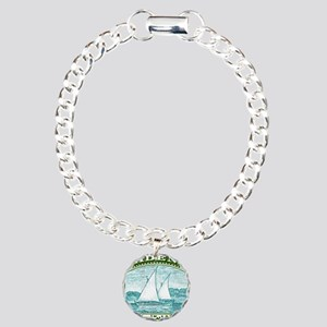 1937 Aden Dhow Boat Post Charm Bracelet, One Charm